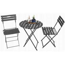 KOMPLET ogrodowy balkonowy BISTRO 2xkrzesła stolik