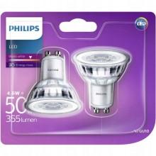 2x PHILIPS LED REFLEKTOR punktowy GU10 4,6W 50W !