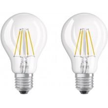 OSRAM ŻARÓWKA LED STAR 2x 4W to 40W E27 ciepłe światł
