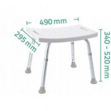 KRZESŁO ŁAZIENKOWE taboret aluminium SOLIDNE 100kg