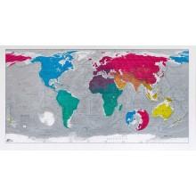 MAPA ŚWIATA ŚCIENNA 130x72cm plakat FUTURE MAPS