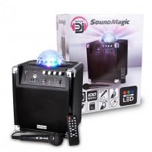 Głośnik KARAOKE bluetooth DJ USB SD Magic LED !!