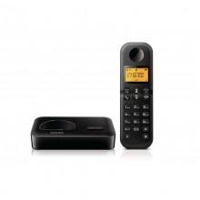 Telefon stacjonarny PHILIPS D150 czarny Eco